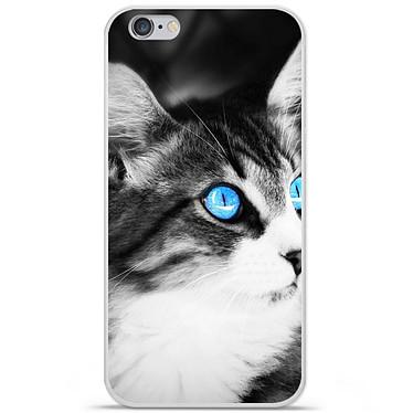 1001 Coques Coque silicone gel Apple IPhone 7 Plus motif Chat yeux bleu Coque silicone gel Apple IPhone 7 Plus motif Chat yeux bleu