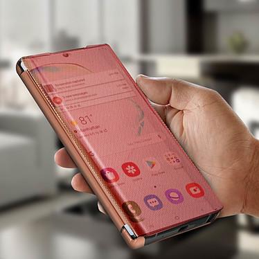 Avis Avizar Etui folio Rose Champagne Translucide pour Samsung Galaxy Note 10 Plus