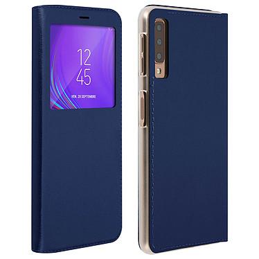 Avizar Etui folio Bleu Nuit pour Samsung Galaxy A7 2018 Etui folio Bleu Nuit Samsung Galaxy A7 2018