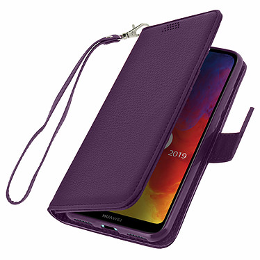 Avizar Etui folio Violet pour Honor 8A , Huawei Y6 2019 , Huawei Y6S pas cher