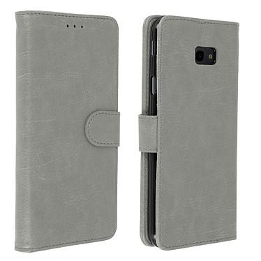 Avizar Etui folio Gris pour Samsung Galaxy J4 Plus Etui folio Gris Samsung Galaxy J4 Plus