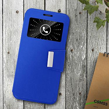 Acheter Avizar Etui folio Bleu à fenêtre pour Samsung Galaxy A6