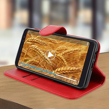 Avis Avizar Etui folio Rouge Portefeuille pour Samsung Galaxy A8