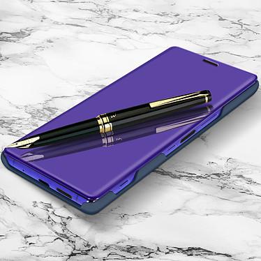 Avizar Etui folio Bleu Nuit Design Miroir pour Sony Xperia 1 pas cher