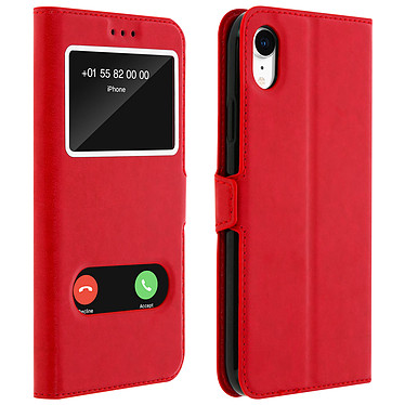 Avizar Etui folio Rouge Éco-cuir pour Apple iPhone XR Etui folio Rouge éco-cuir Apple iPhone XR
