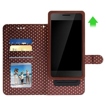 Avis Avizar Etui folio Marron pour Smartphones de 5.3' à 5.5'