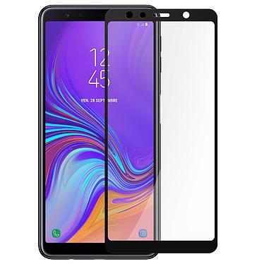 Avizar Film verre trempé Noir pour Samsung Galaxy A7 2018 pas cher