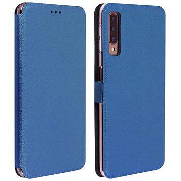 Avizar Etui folio Bleu Nuit Éco-cuir pour Samsung Galaxy A7 2018 Etui folio Bleu Nuit éco-cuir Samsung Galaxy A7 2018