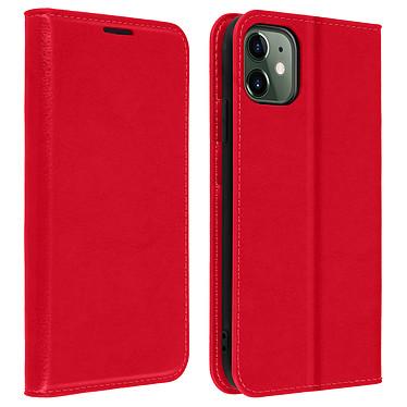 Avizar Etui folio Rouge Cuir véritable pour Apple iPhone 11 Etui folio Rouge cuir véritable Apple iPhone 11