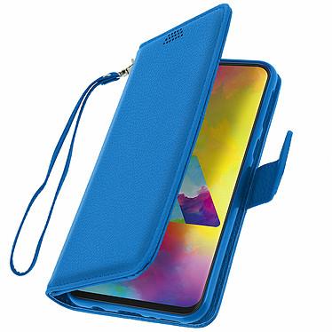 Avizar Etui folio Bleu pour Samsung Galaxy M20 pas cher