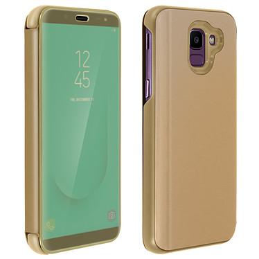 Avizar Etui folio Dorée pour Samsung Galaxy J6 Etui folio Dorée Samsung Galaxy J6