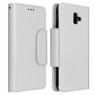 Avizar Etui folio Argent pour Samsung Galaxy J6 Plus Etui folio Argent Samsung Galaxy J6 Plus