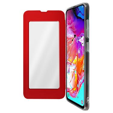 Avizar Etui folio Rouge Miroir pour Samsung Galaxy A70 Etui folio Rouge miroir intégré Samsung Galaxy A70