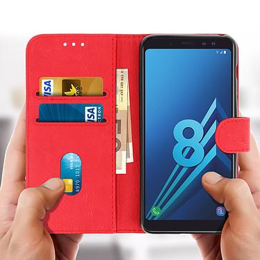 Acheter Avizar Etui folio Rouge Portefeuille pour Samsung Galaxy A8