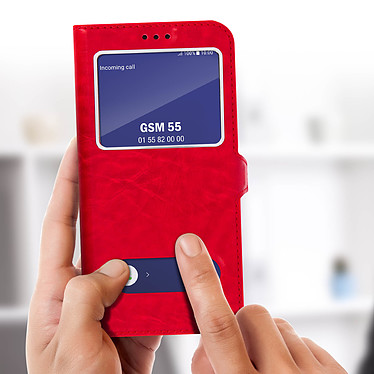 Acheter Avizar Etui folio Rouge Éco-cuir pour Samsung Galaxy A6