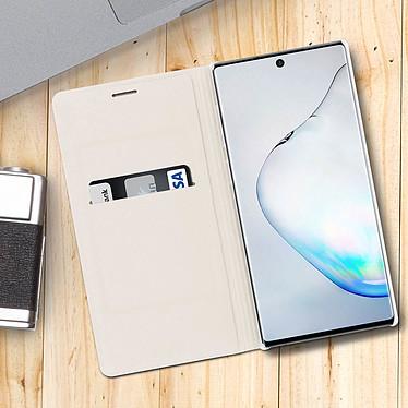 Acheter Avizar Etui folio Blanc Porte-Carte pour Samsung Galaxy Note 10 Plus