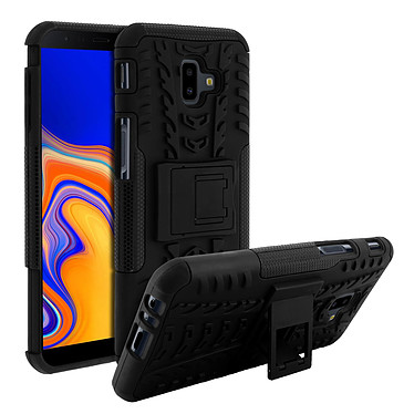 Avizar Coque Noir Hyrbide pour Samsung Galaxy J6 Plus pas cher