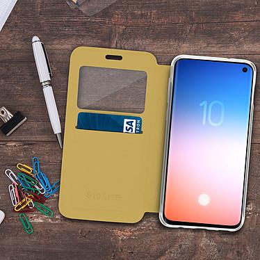 Acheter Avizar Etui folio Dorée pour Samsung Galaxy S10e