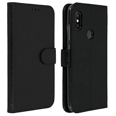Avizar Etui folio Noir Portefeuille pour Xiaomi Redmi Note 6 Pro Etui folio Noir portefeuille Xiaomi Redmi Note 6 Pro