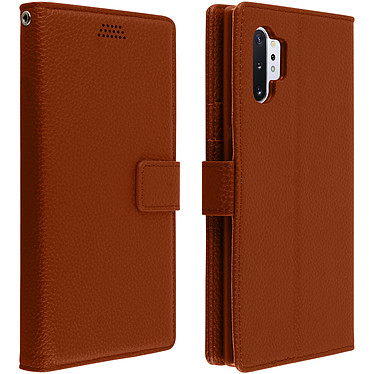 Avizar Etui folio Marron Éco-cuir pour Samsung Galaxy Note 10 Plus Etui folio Marron éco-cuir Samsung Galaxy Note 10 Plus