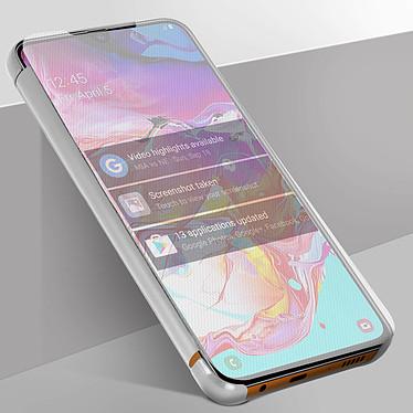 Avizar Etui folio Argent pour Samsung Galaxy A70 pas cher