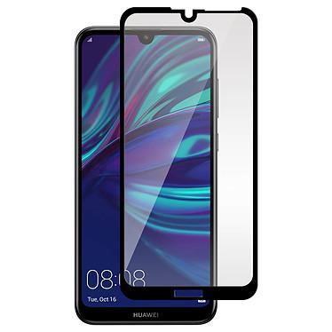 Avizar Film verre trempé Noir pour Huawei Y7 2019 pas cher