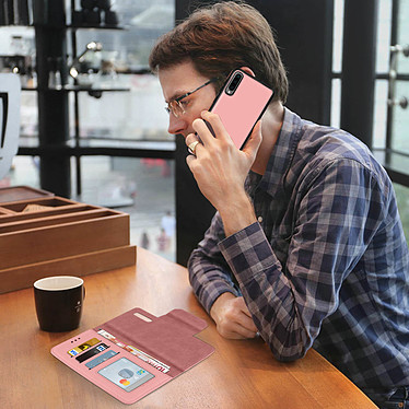 Avis Avizar Etui folio Rose pour Samsung Galaxy A70