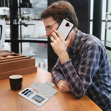 Avis Avizar Etui folio Argent pour Samsung Galaxy J6 Plus