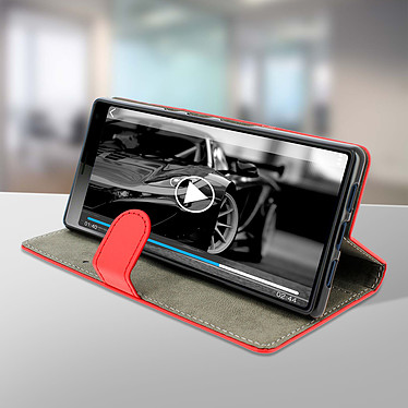 Avis Avizar Etui folio Rouge Éco-cuir pour Sony Xperia 10 Plus