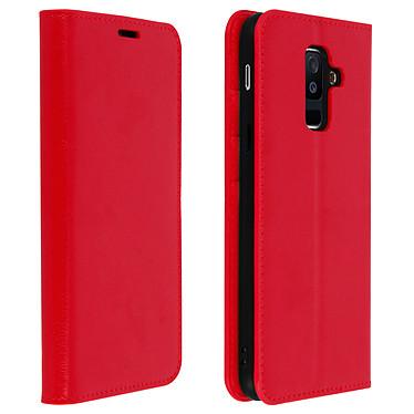 Avizar Etui folio Rouge pour Samsung Galaxy A6 Plus pas cher