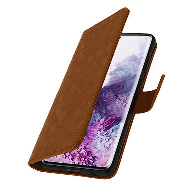 Avizar Etui folio Marron pour Samsung Galaxy S20 pas cher
