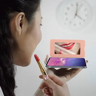 Acheter Avizar Etui folio Rose Champagne Miroir pour Samsung Galaxy S10e