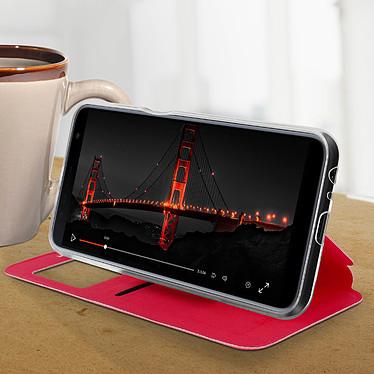 Avis Avizar Etui folio Rouge à fenêtre pour Samsung Galaxy J6 Plus