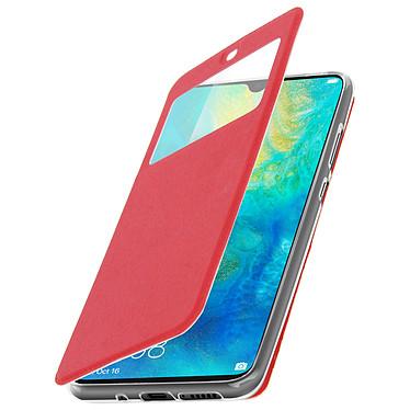 Avizar Etui folio Rouge Éco-cuir pour Huawei Mate 20 pas cher