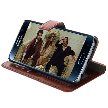 Avis Avizar Etui folio Marron pour Samsung Galaxy S6