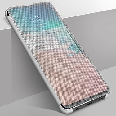 Avizar Etui folio Argent pour Samsung Galaxy S10 Plus pas cher