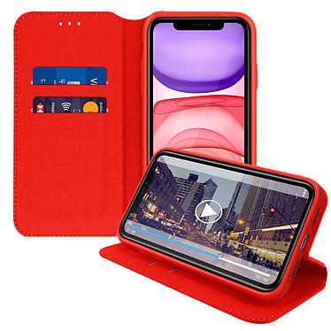 Avizar Etui folio Rouge Éco-cuir pour Apple iPhone 11 pas cher