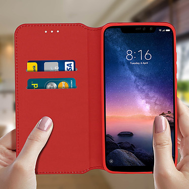 Acheter Avizar Etui folio Rouge pour Xiaomi Redmi Note 6 Pro