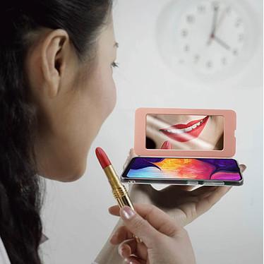 Acheter Avizar Etui folio Rose Champagne pour Samsung Galaxy A50 , Samsung Galaxy A30s