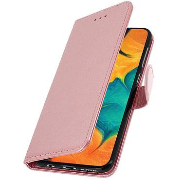 Avizar Etui folio Rose Champagne pour Samsung Galaxy A30 pas cher