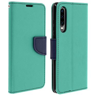 Avizar Etui folio Vert pour Huawei P30 Etui folio Vert Huawei P30