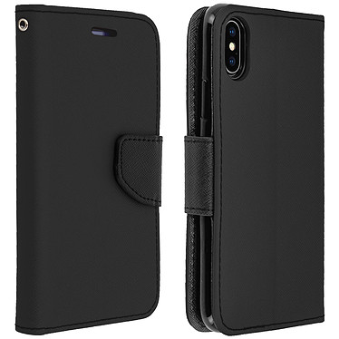 Avizar Etui folio Noir Support Horizontal pour Apple iPhone XS Max Etui folio Noir fonction support horizontal Apple iPhone XS Max