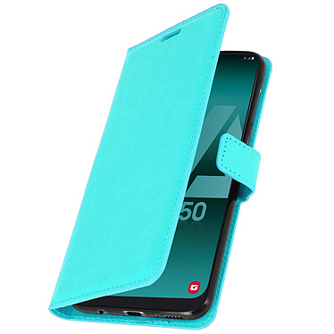 Avizar Etui folio Turquoise pour Samsung Galaxy A50 , Samsung Galaxy A30s pas cher