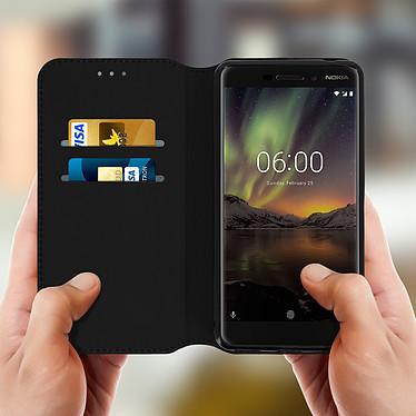 Acheter Avizar Etui folio Noir pour Nokia 6.1
