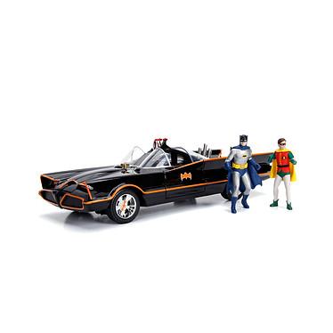 Batman 1966 - Réplique 1/18 Batmobile métal avec figurines Réplique 1/18 en métal de la Batmobile avec figurines tirée de la sérieBatman 1966.