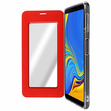Avizar Etui folio Rouge pour Samsung Galaxy A7 2018 Etui folio Rouge Samsung Galaxy A7 2018