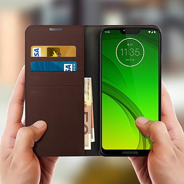 Acheter Avizar Etui folio Marron pour Motorola Moto G7 , Motorola Moto G7 Plus