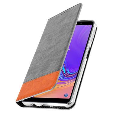 Avizar Etui folio Gris pour Samsung Galaxy A7 2018 pas cher