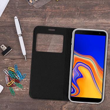 Acheter Avizar Etui folio Noir Fenêtre Affichage pour Samsung Galaxy J6 Plus