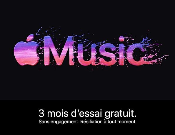 Apple Music, 3 mois d'essai gratuit.